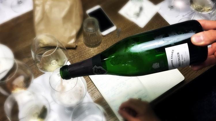 momento della masterclass champagne bollinger